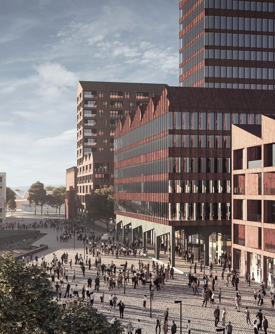 Europahafenkopf, new housing and office complex by COBE