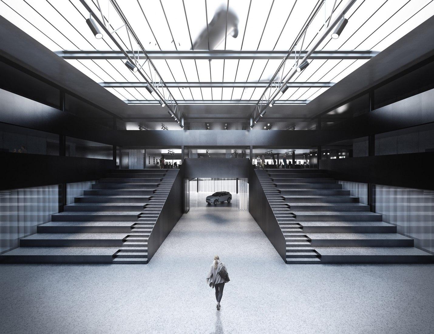 Visualización. Nuevo centro de diseño para Geely por Cobe