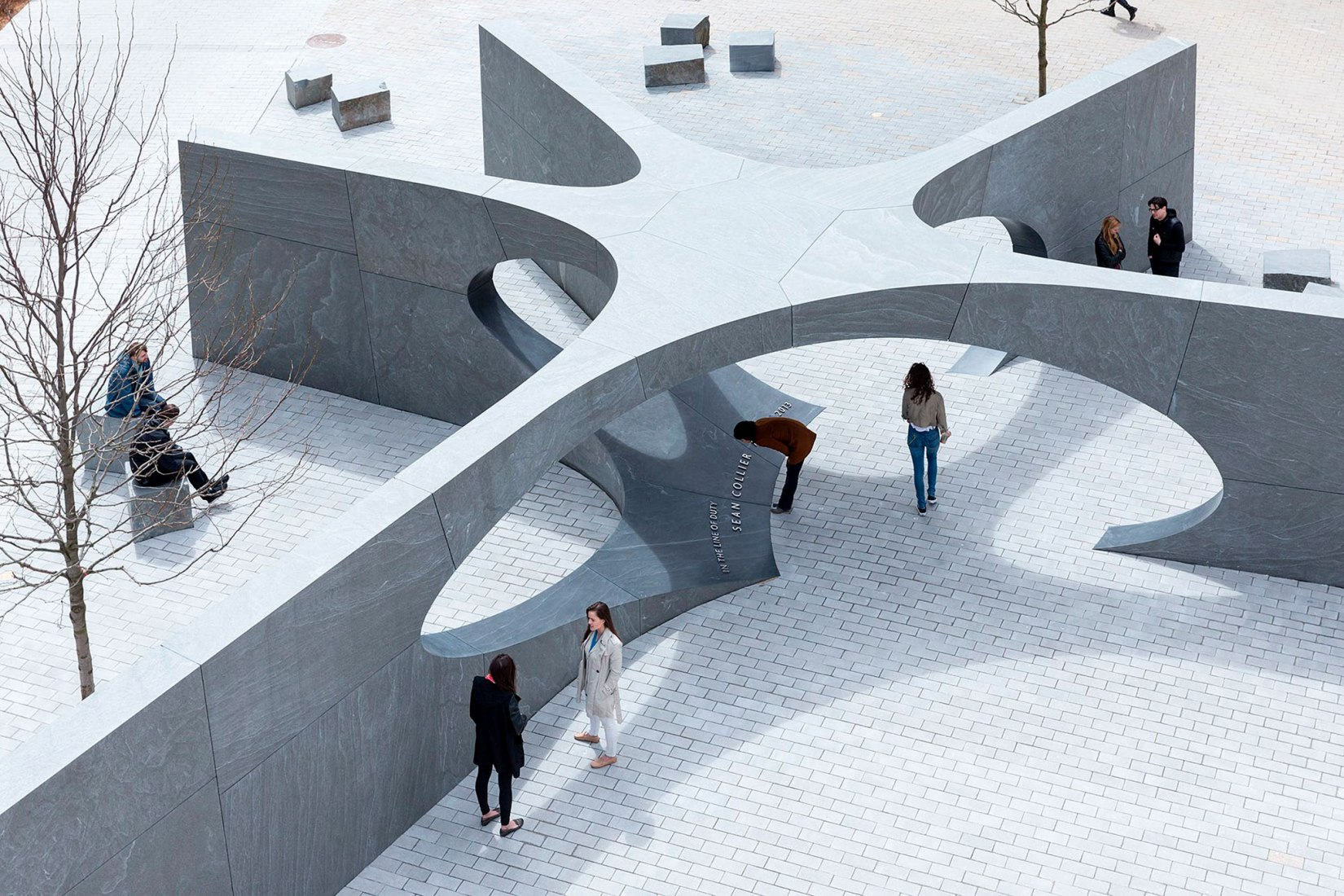 MIT Sean Collier Memorial by Höweler+Yoon Architecture. Photograph by Iwan Baan