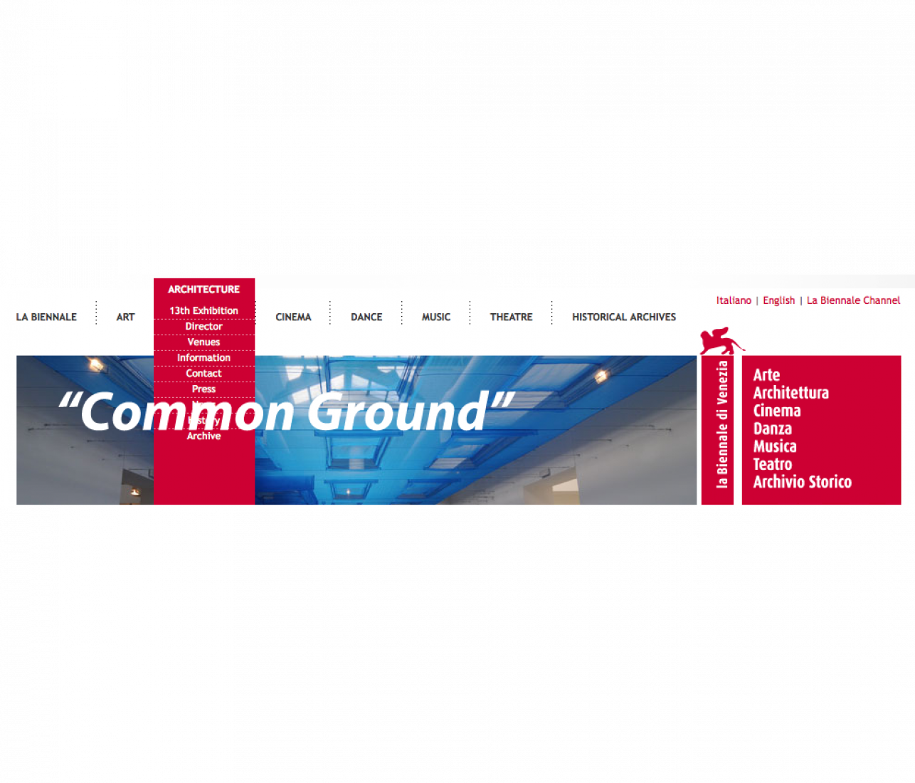 """Common Ground"" as the theme for the 13th International Venice Biennale"