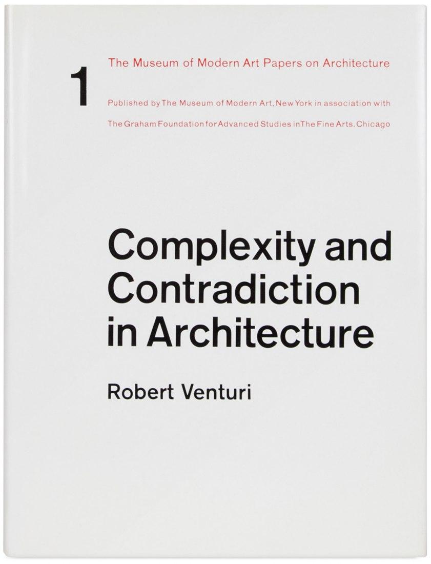 Portada de Complejidad y Contradicción en la Arquitectura, publicado por el MoMA.