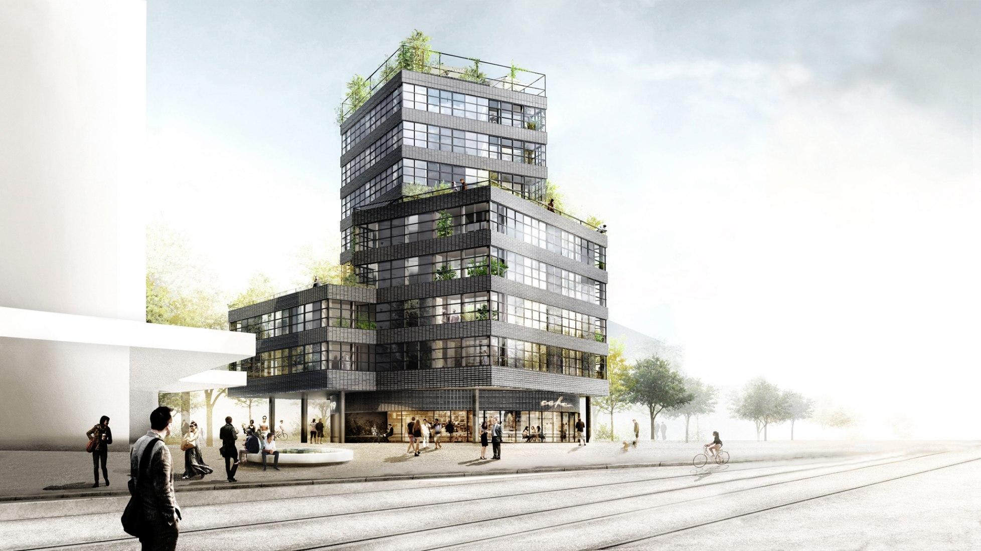 Rénder. Jardin Métropole by HHF Architects. Imagec courtesy of HHF Architects