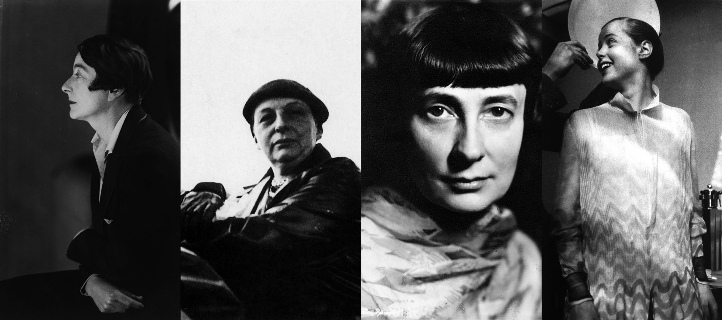 Eileen Gray (Enniscorthy, Ireland, 1878-Paris, 1976), Lilly Reich (Berlin, 1885-1947), Margarete Schütte-Lihotzky (Vienna, 1897-2000) and Charlotte Perriand (Paris, 1903-1999)