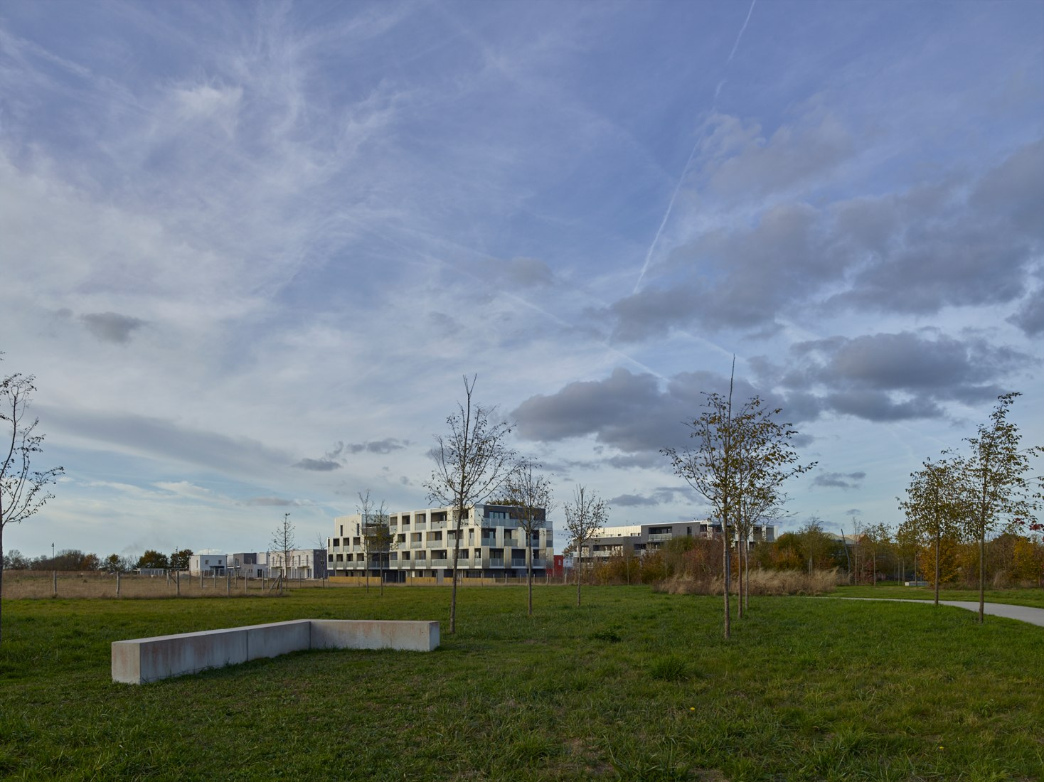 45 viviendas en ZAC West Downtown en Couëron por A/LTA. Fotografía © S. Chalmeau.