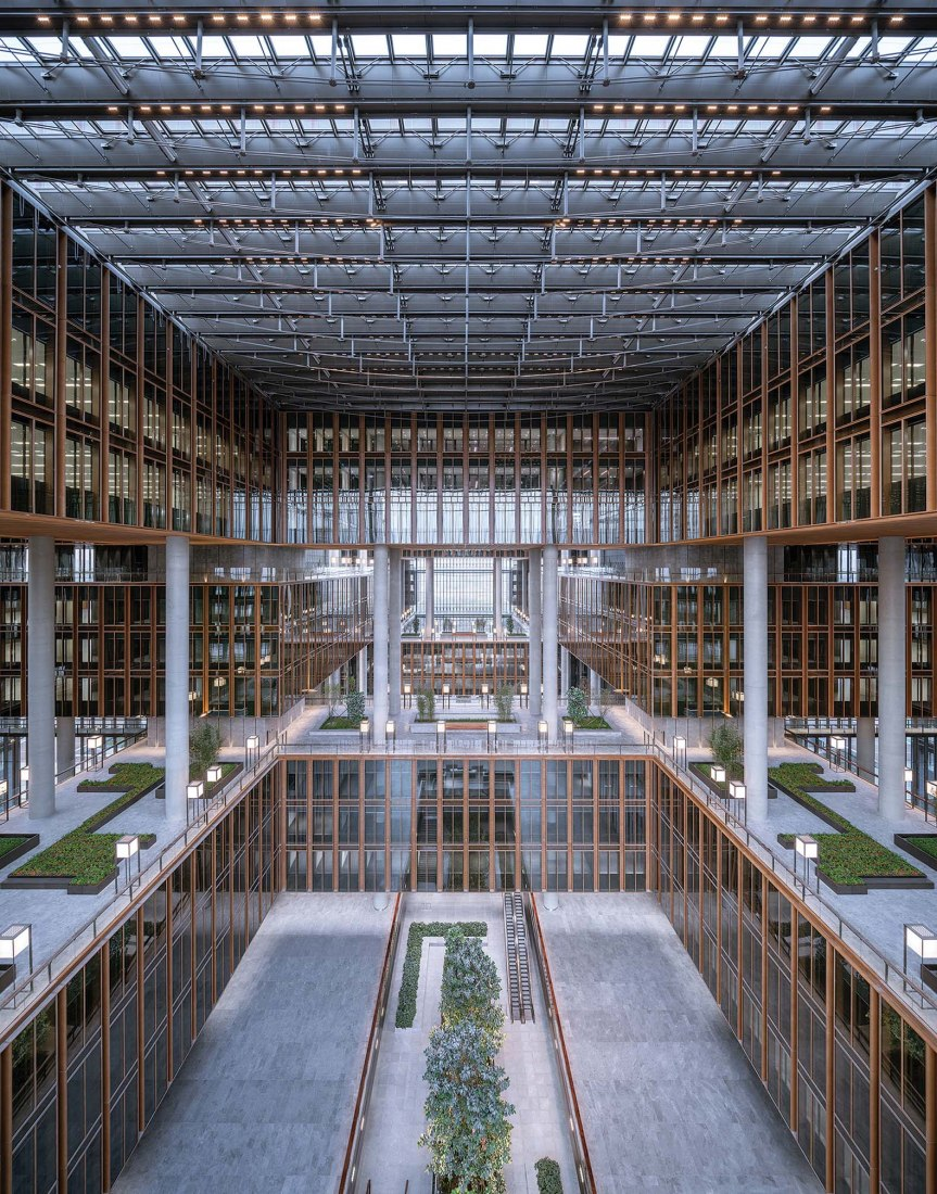 Asia Financial Center & AIIB Headquarters by von Gerkan, Marg and Partners Architects (Architect of Record: Architectural Design and Research Institute of Tsinghua University). Photograph by CreatAR Images.