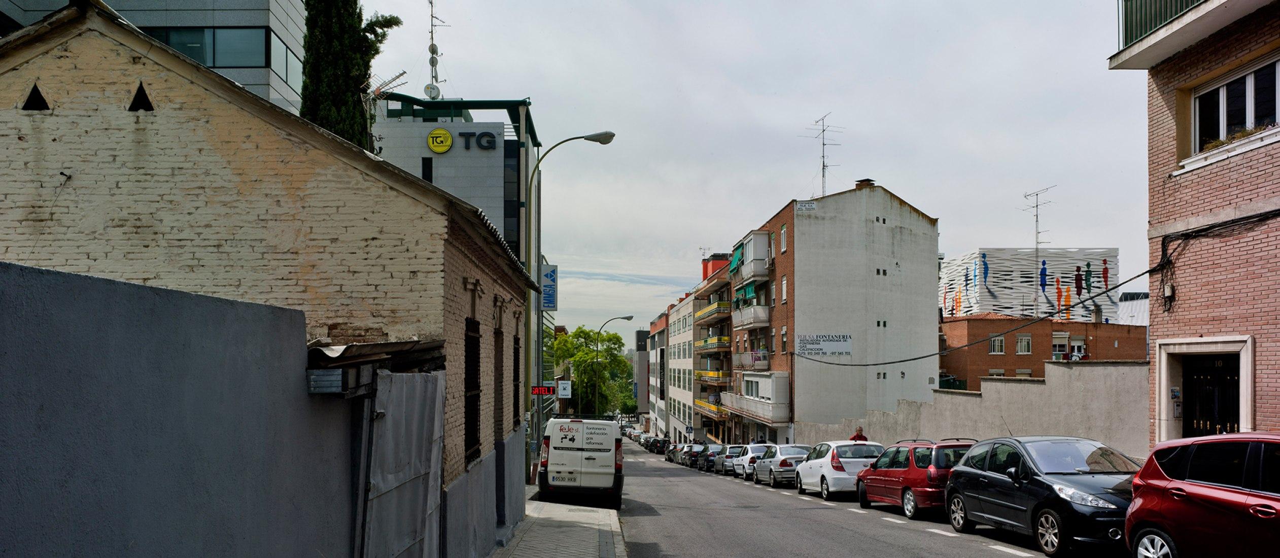 Sede de CUALTIS, proyecto de DENORTE y mural de SUSO33. Fotografía © David Frutos.