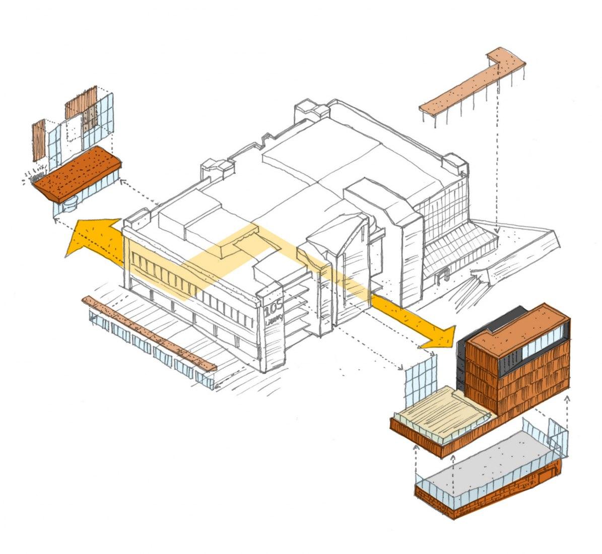 Bocetos. La remodelación de la Biblioteca de la Universidad Curtin por SHL Architects.