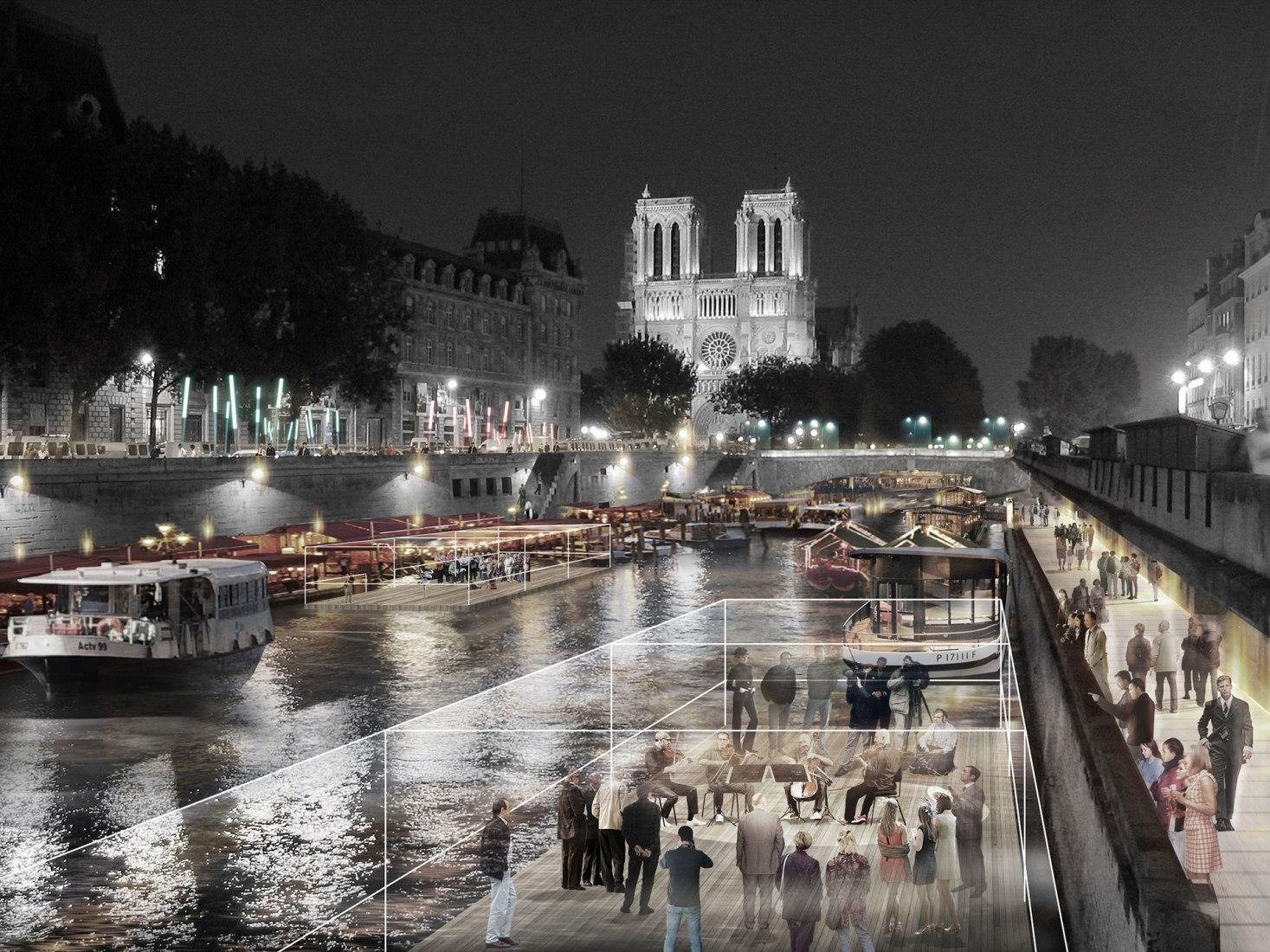 El reencuentro con el Sena. Imagen cortesía de © Dominique Perrault Architecture / DPA-ADAGP