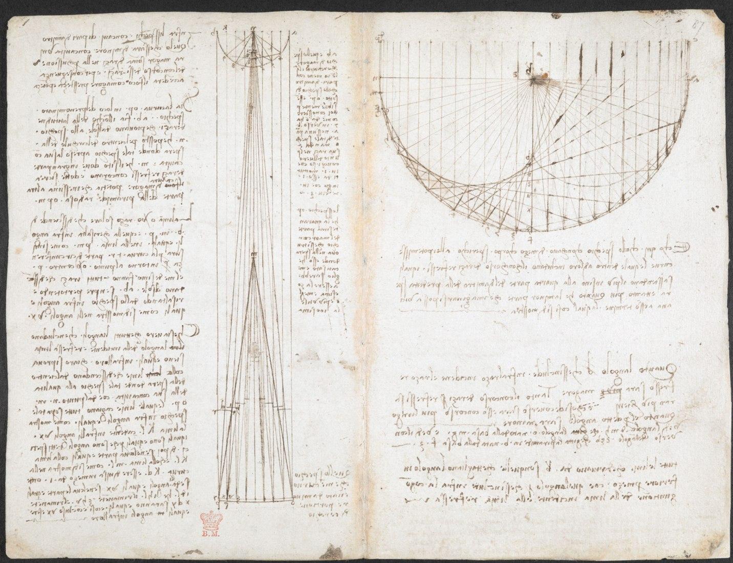 Codex Arundel de Leonardo da Vinci por la Biblioteca Británica y Microsoft