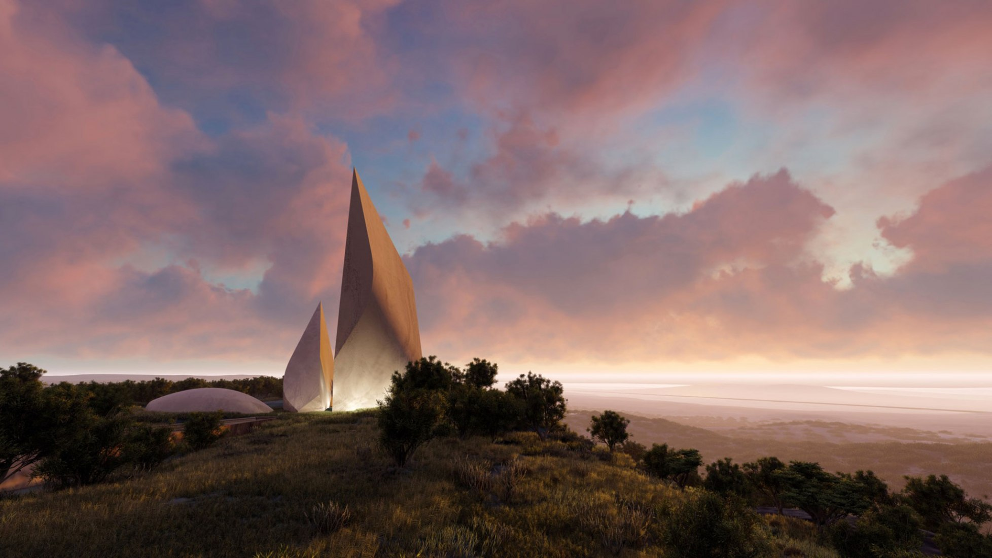 Ngaren: Museum of Humankind by Studio Daniel Libeskind. RenderingImage courtesy of Studio Daniel Libeskind