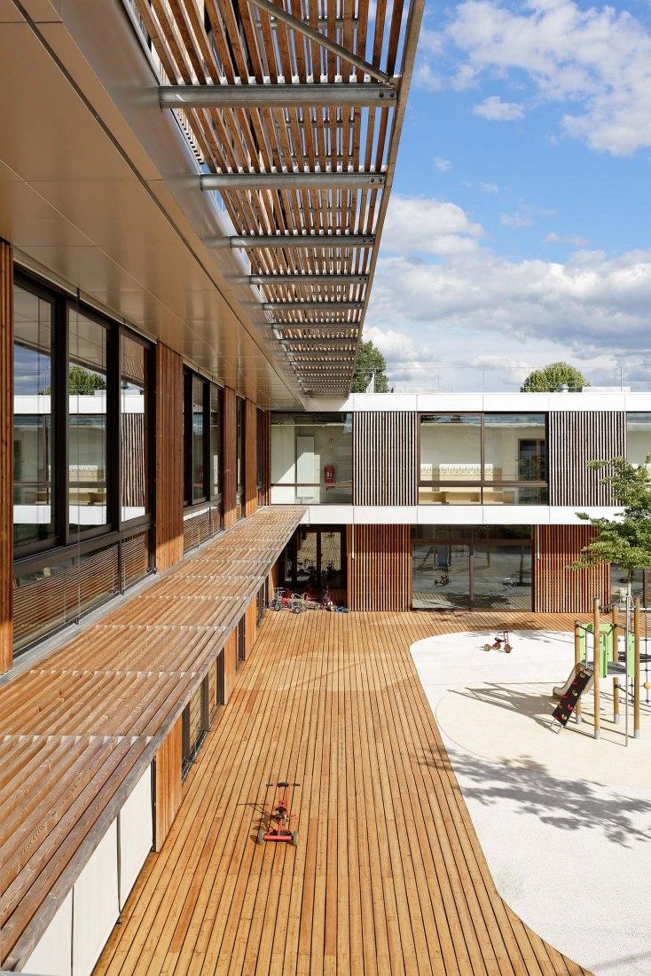Centro Escolar y de Actividades en Antony por Dietmar Feichtinger Architectes. Fotografía por David Boureau