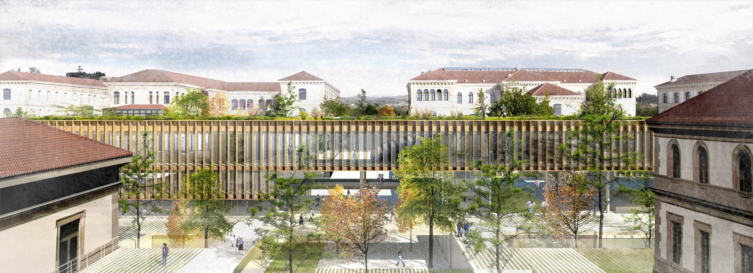 Visualización. Reordenación del Complejo Administrativo de la Xunta de Galicia en San Caetano por Díaz y Díaz Arquitectos y Miba Architects