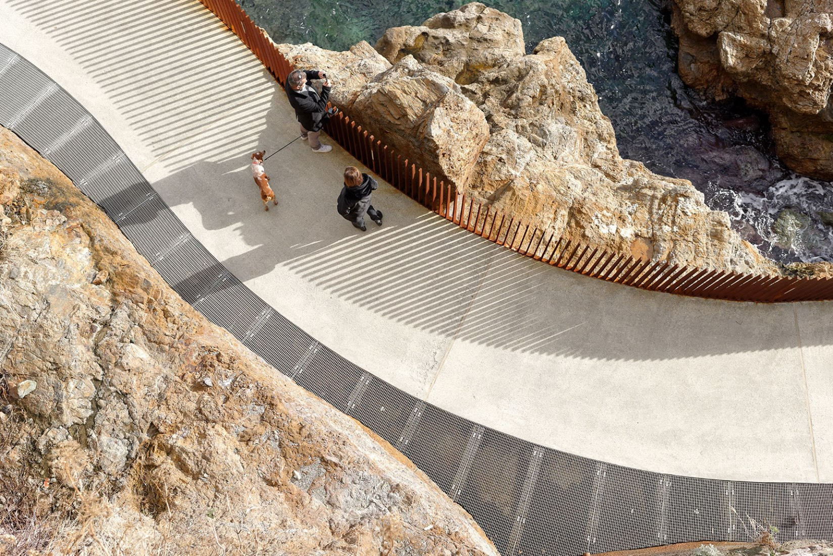 Walkway l'Aldilonda around the Citadel of Bastia by Dietmar Feichtinger Architectes. Photograph by David Boureau