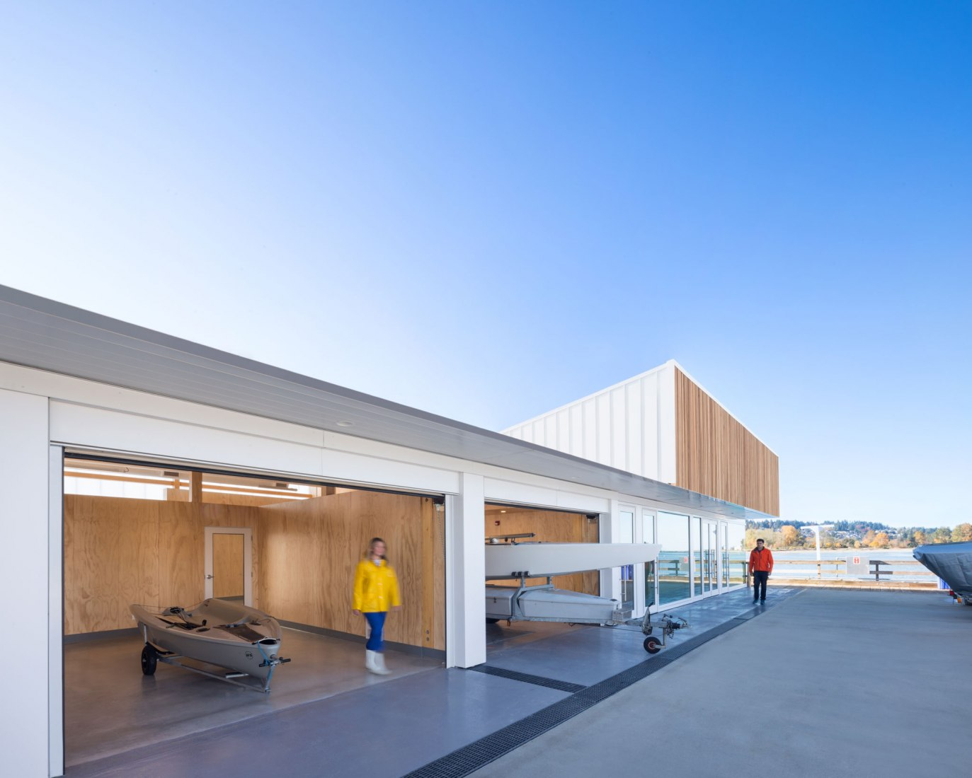 Vista exterior. Edificio Dock por Michael Green Architecture. Fotografía por Ema Peter