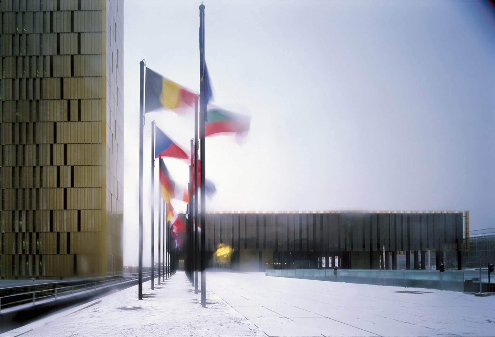 Third office tower for the European Court of Justice by Dominique Perrault. Photograph by Georges Fessy