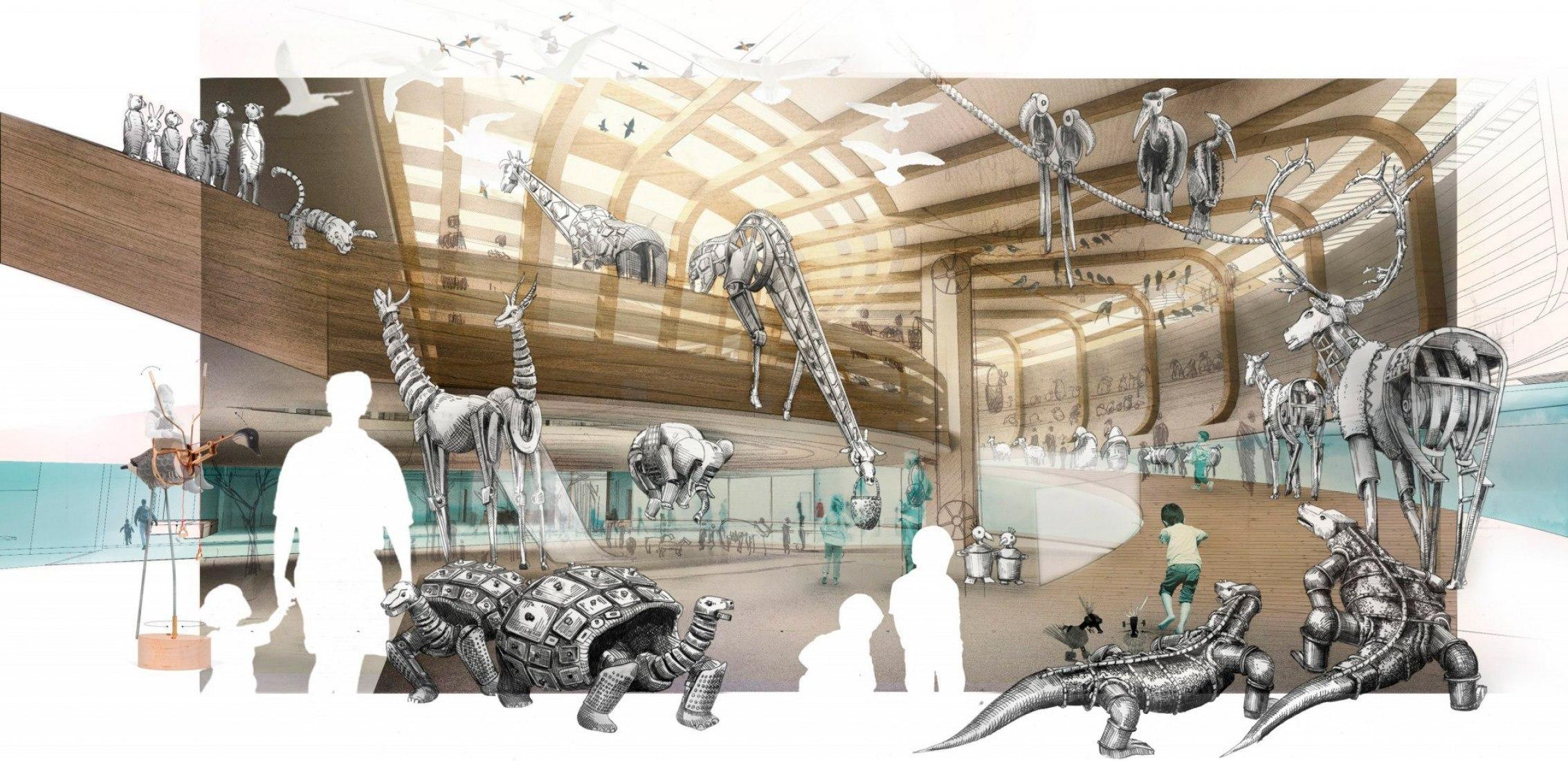 Visualización. Nuevo Museo infantil del Museo Judio de Berlín por Olson Kundig Architects