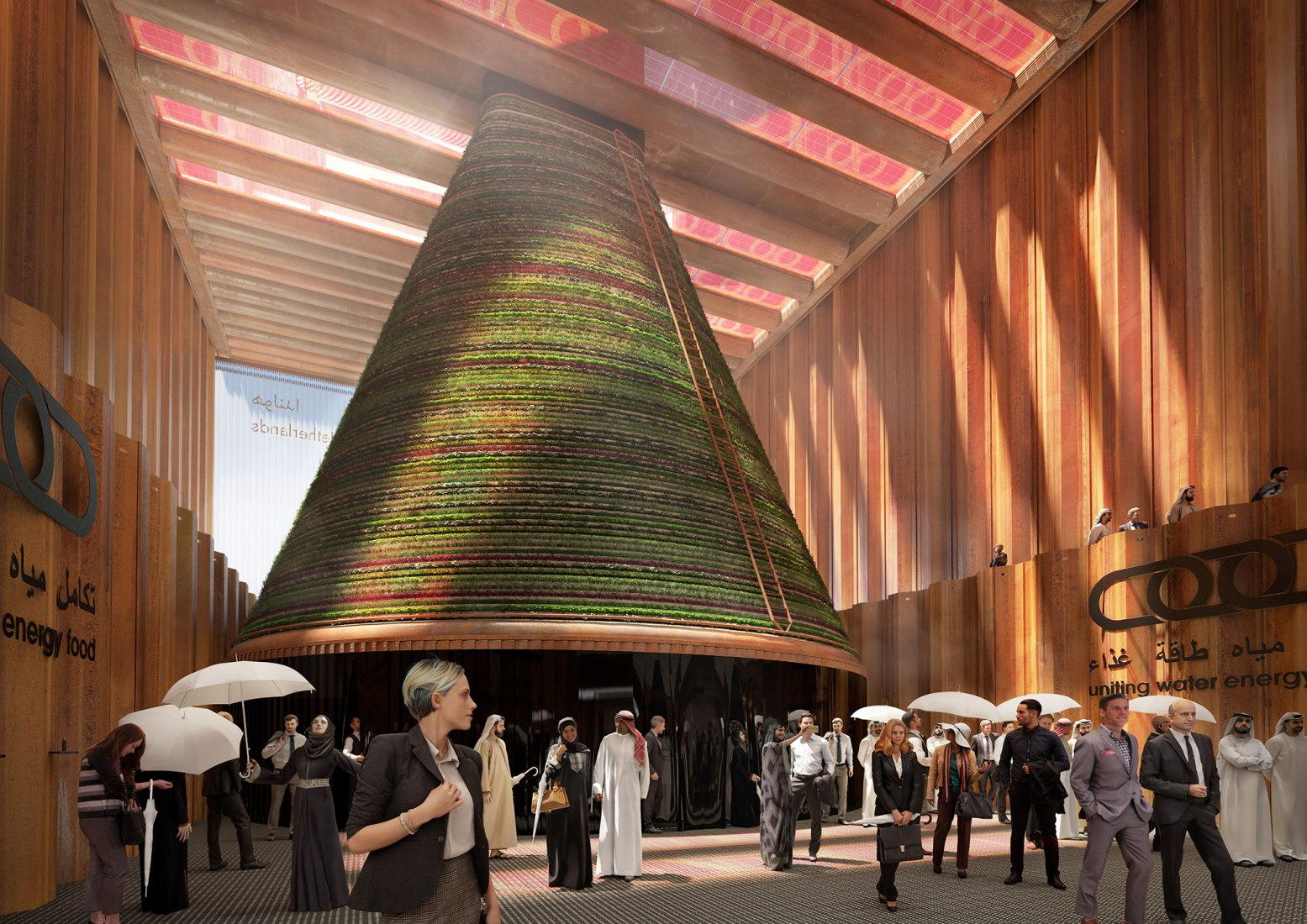 Rendering. Dutch pavilion for Expo 2020 Dubai by V8 architects. Image courtesy of V8 architects