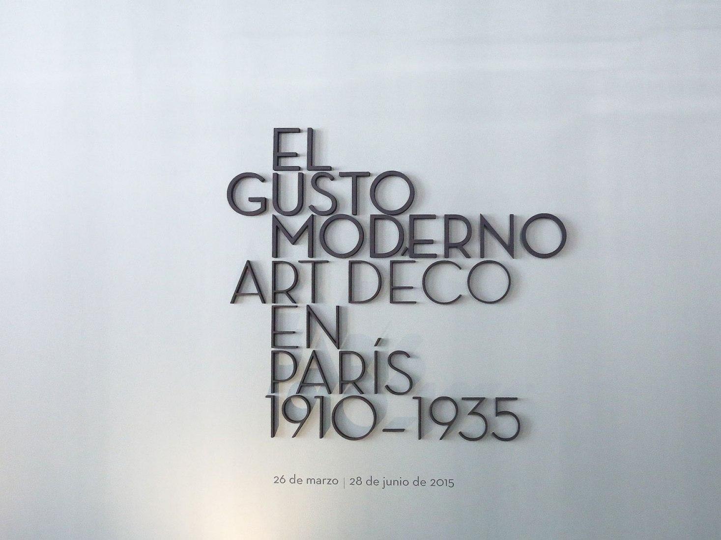 El gusto moderno. Art Déco en París, 1910-1935: exposición en Fundación Juan March, Madrid. Fotografía © Cortesía Fundación Juan March.