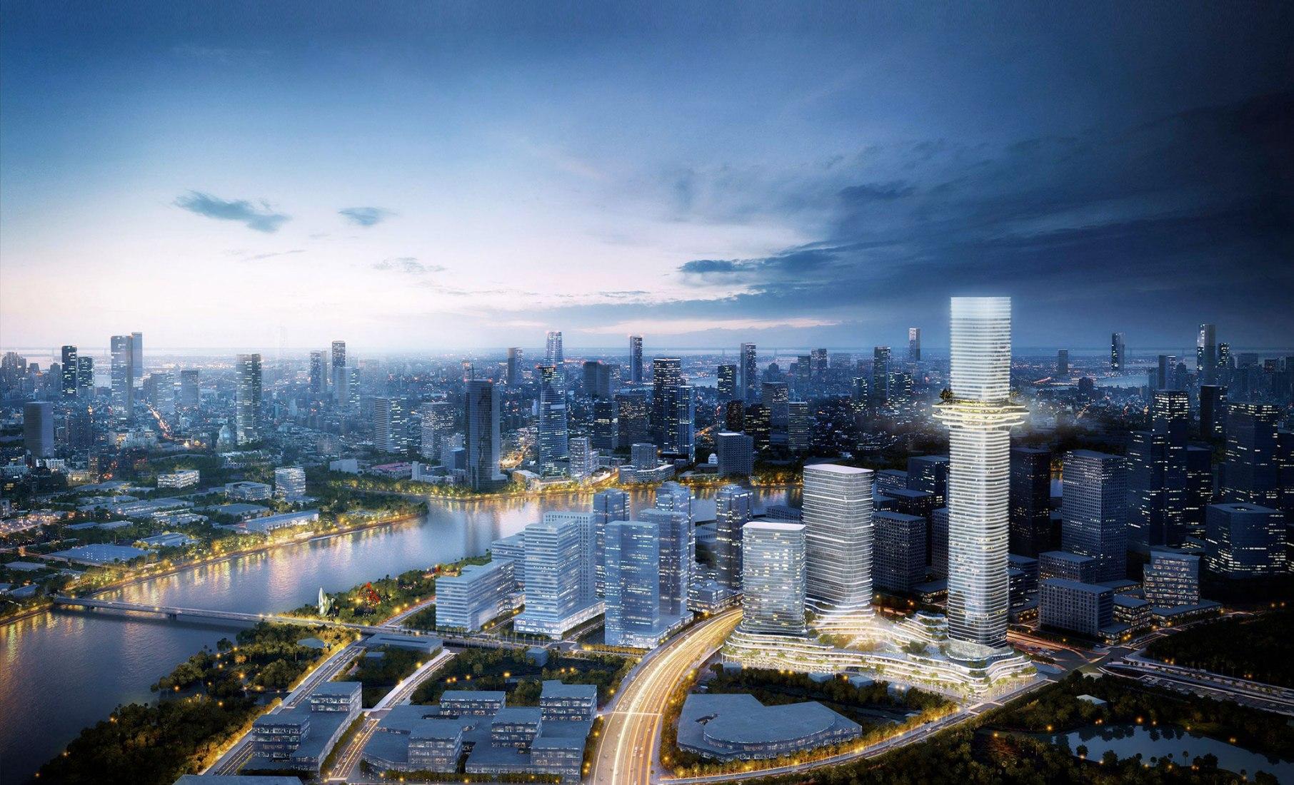 Skyline Future Urban Vision. Empire City by Ole Scheeren Buro. Image © Buro Ole Scheeren