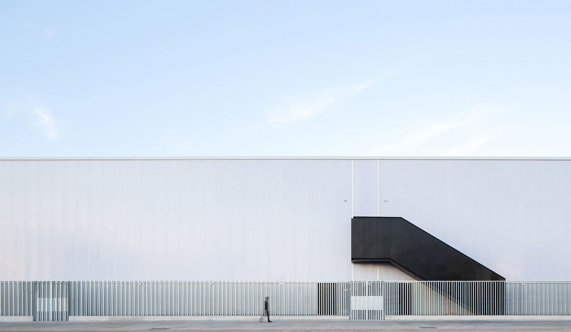 Exterior view. L'Alqueria del Basket by ERRE Arquitectura. Photograph by Daniel Rueda