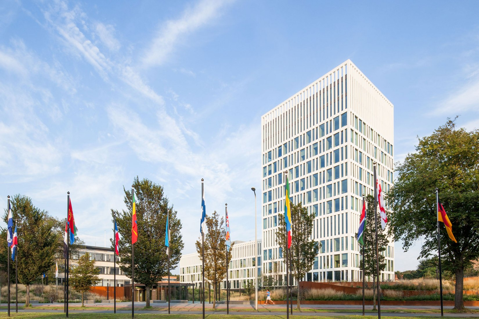 Exterior view. Eurojust, The Hague, the Netherlands by Mecanoo Photograph © mecanoo architecten