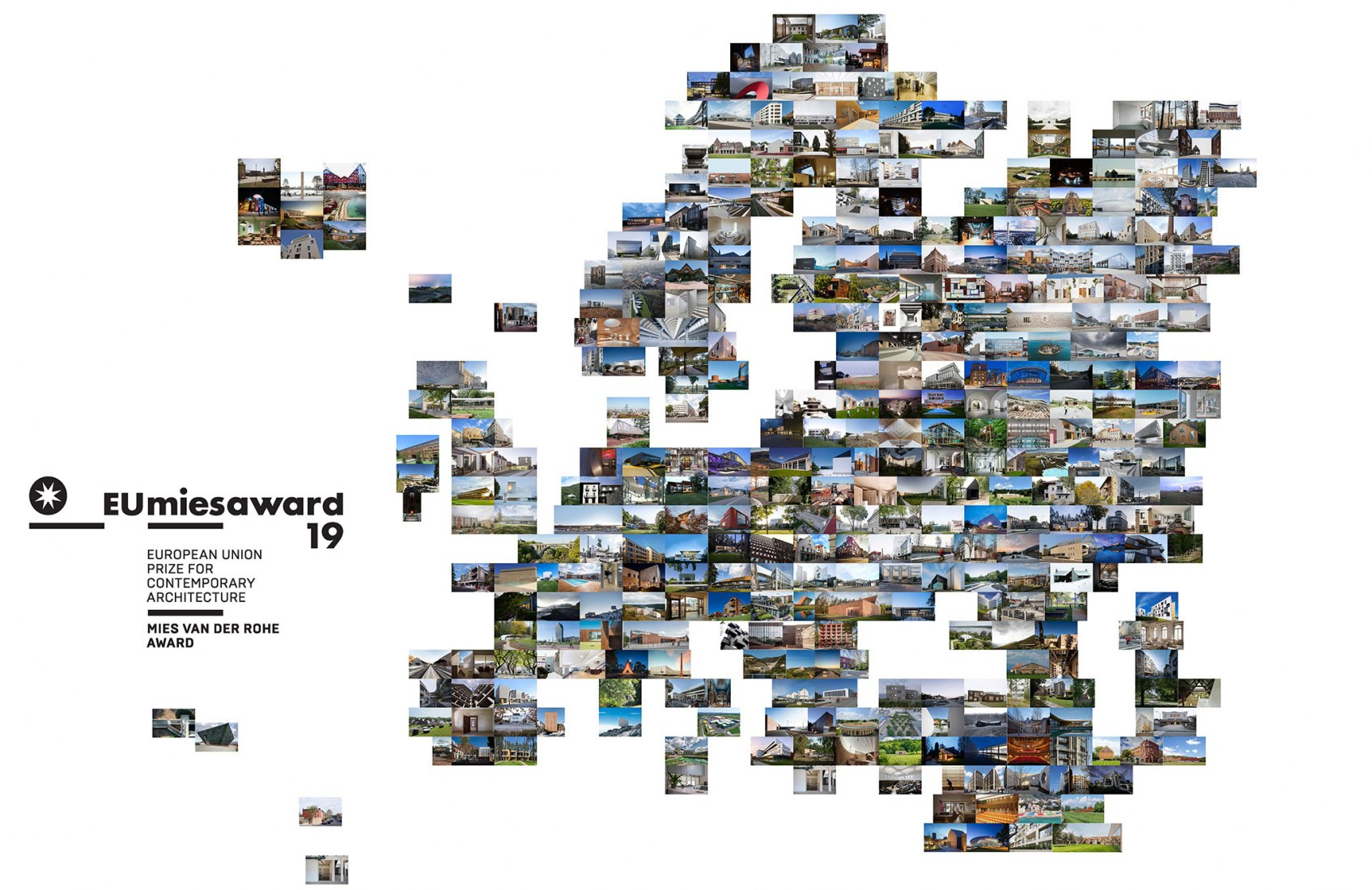 383 works competing in the EU MIES AWARD 2019!