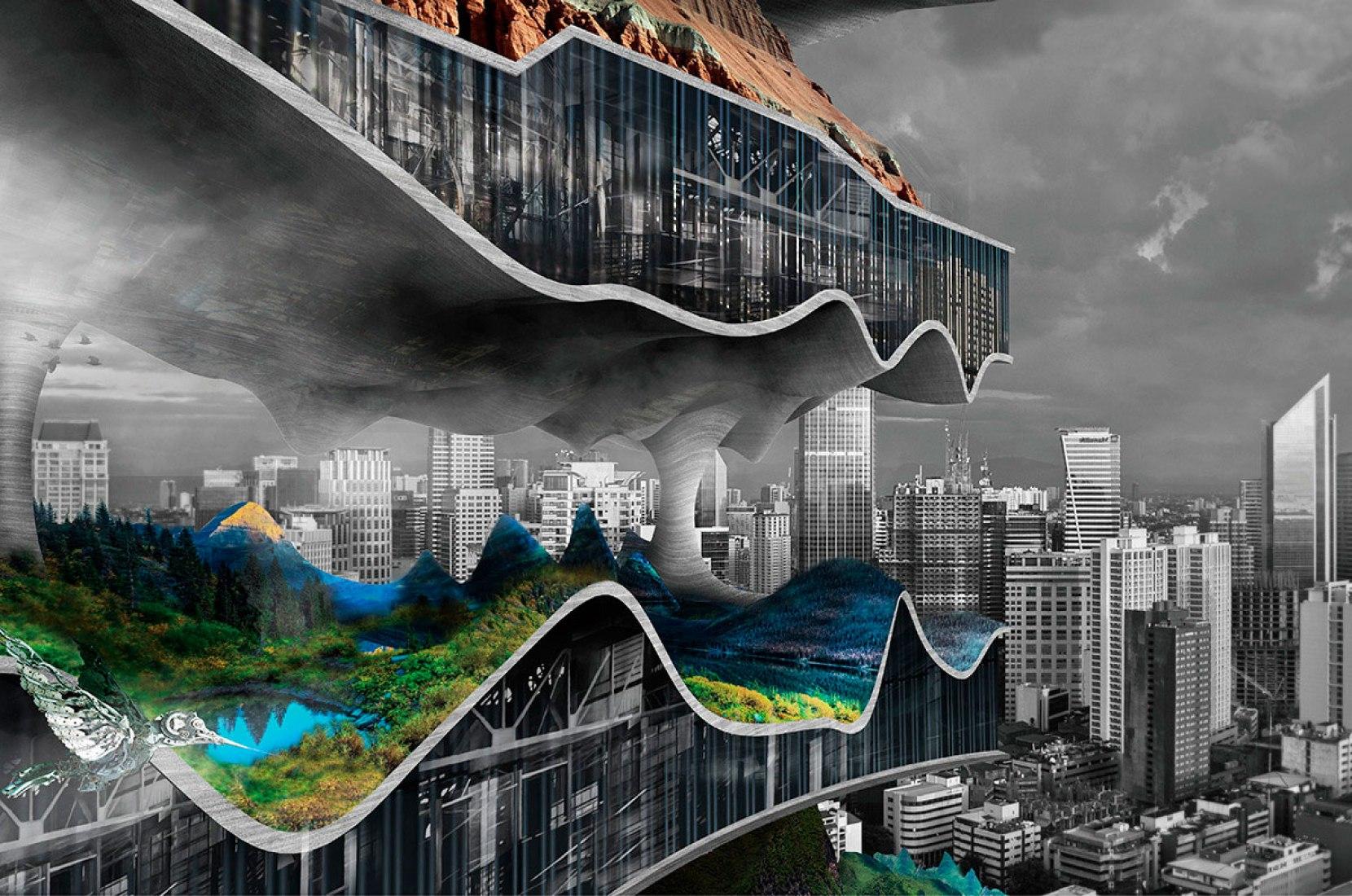 Vertical Factories in Megacities - 2do lugar. Por.- Tianshu Liu, Linshen Xie.