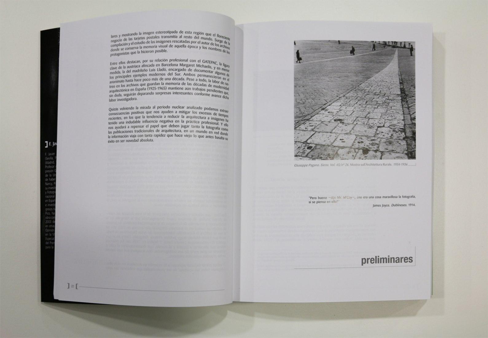 Páginas interiores del libro Fotografía y arquitectura moderna. 1925-1939. Andalucía. Margaret Michaelis por Francisco Javier López Rivera.