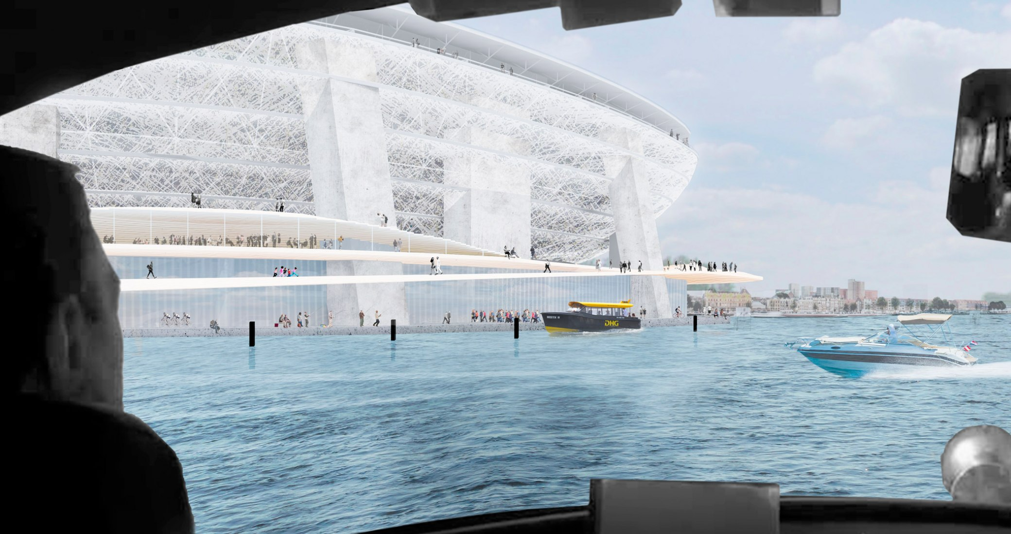 Plan director de Feyenoord City diseñado por OMA. Imagen cortesia de OMA