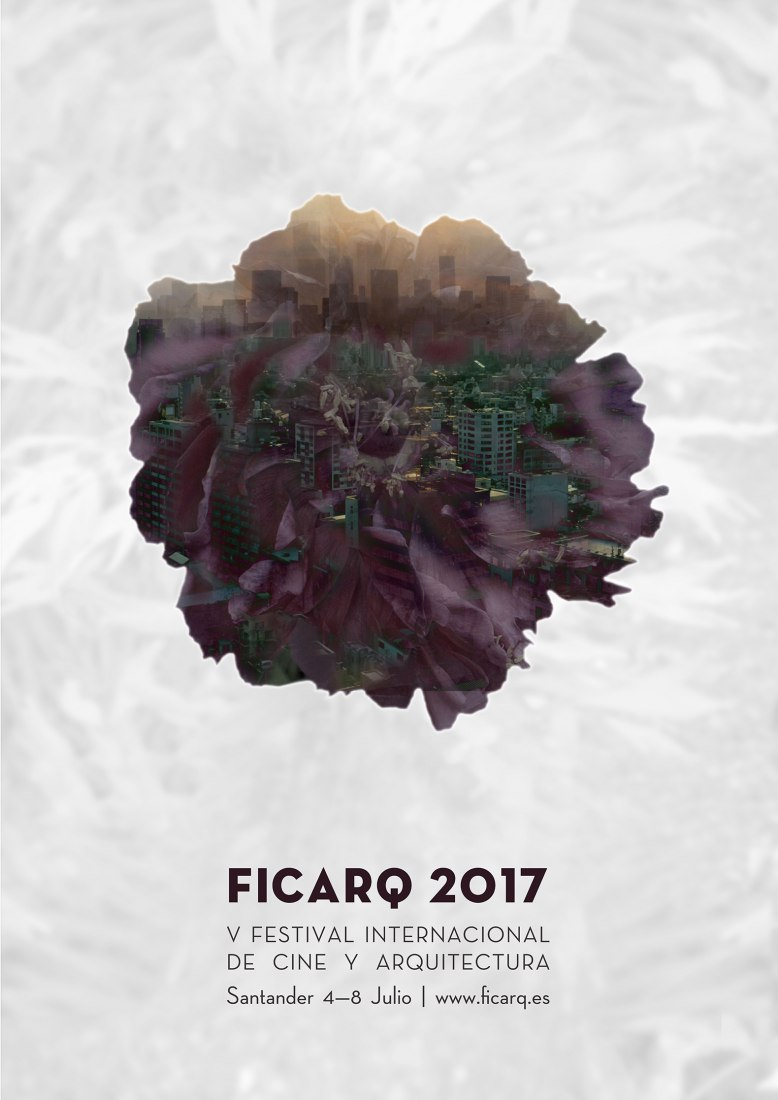 Portada de la V Edición Festival Arquitectura y Cine FICARQ (Santander) 2017.