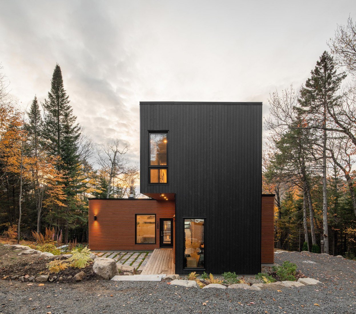 Prefabricated Country Home by Figurr Architects Collective. Photograph by David Boyer