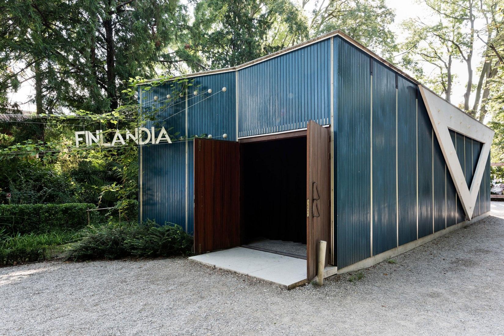 The Alvar Aalto -designed Pavilion of Finland in the Giardini, Venice. Photograph by Ugo Carmeni