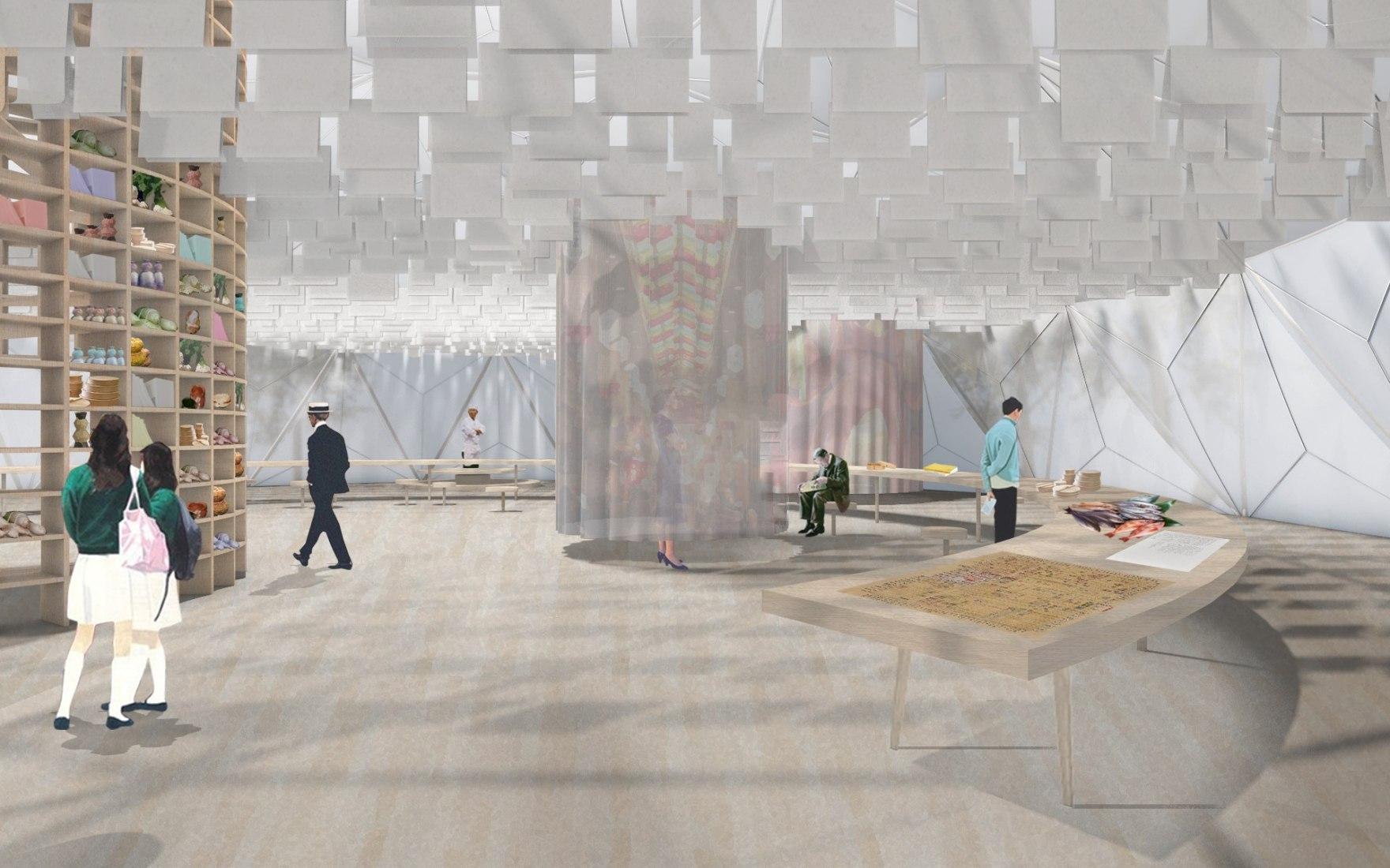 Exhibition rendering © Manuel Herz/Rahbaran Hürzeler, 2019.