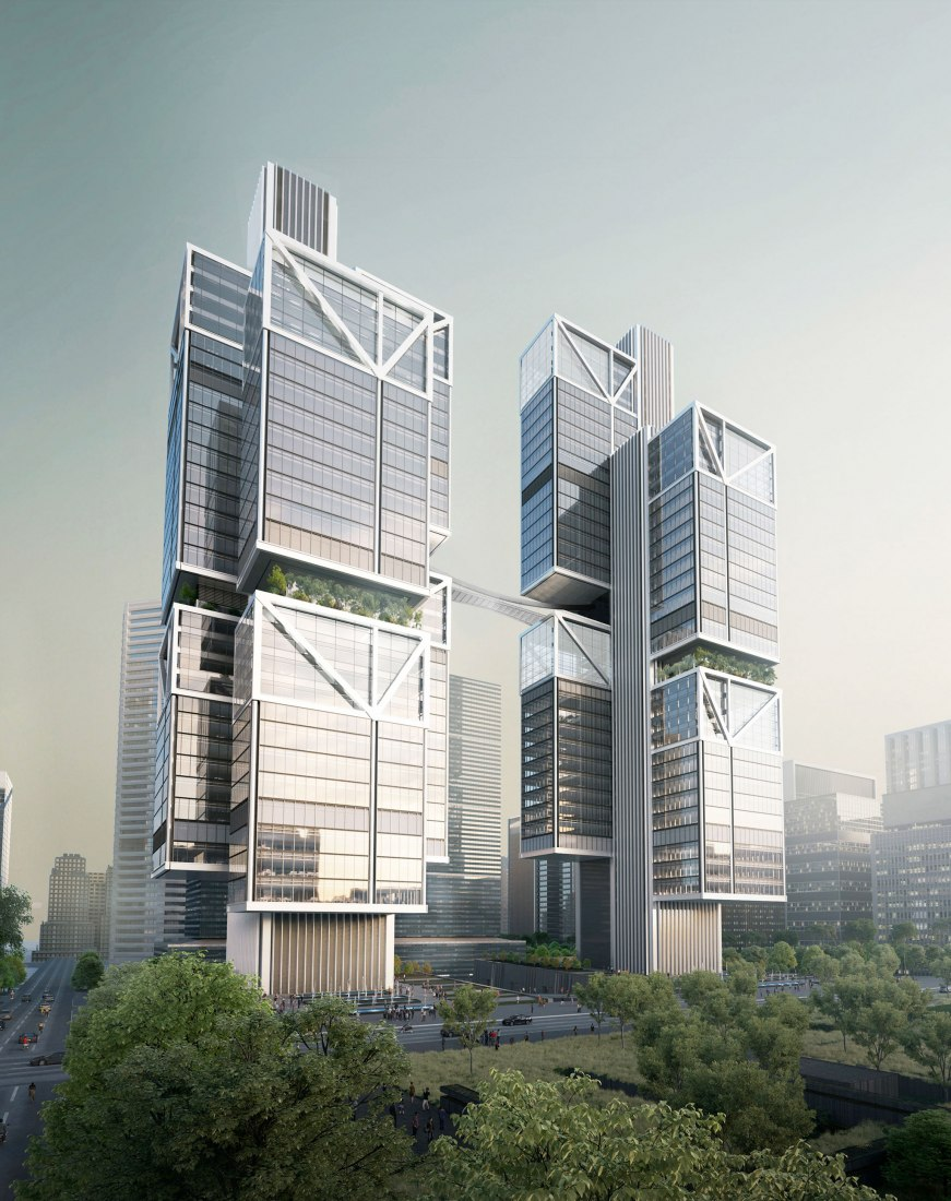 Designs for DJI's new HQ in Shenzhen by Foster+Partners