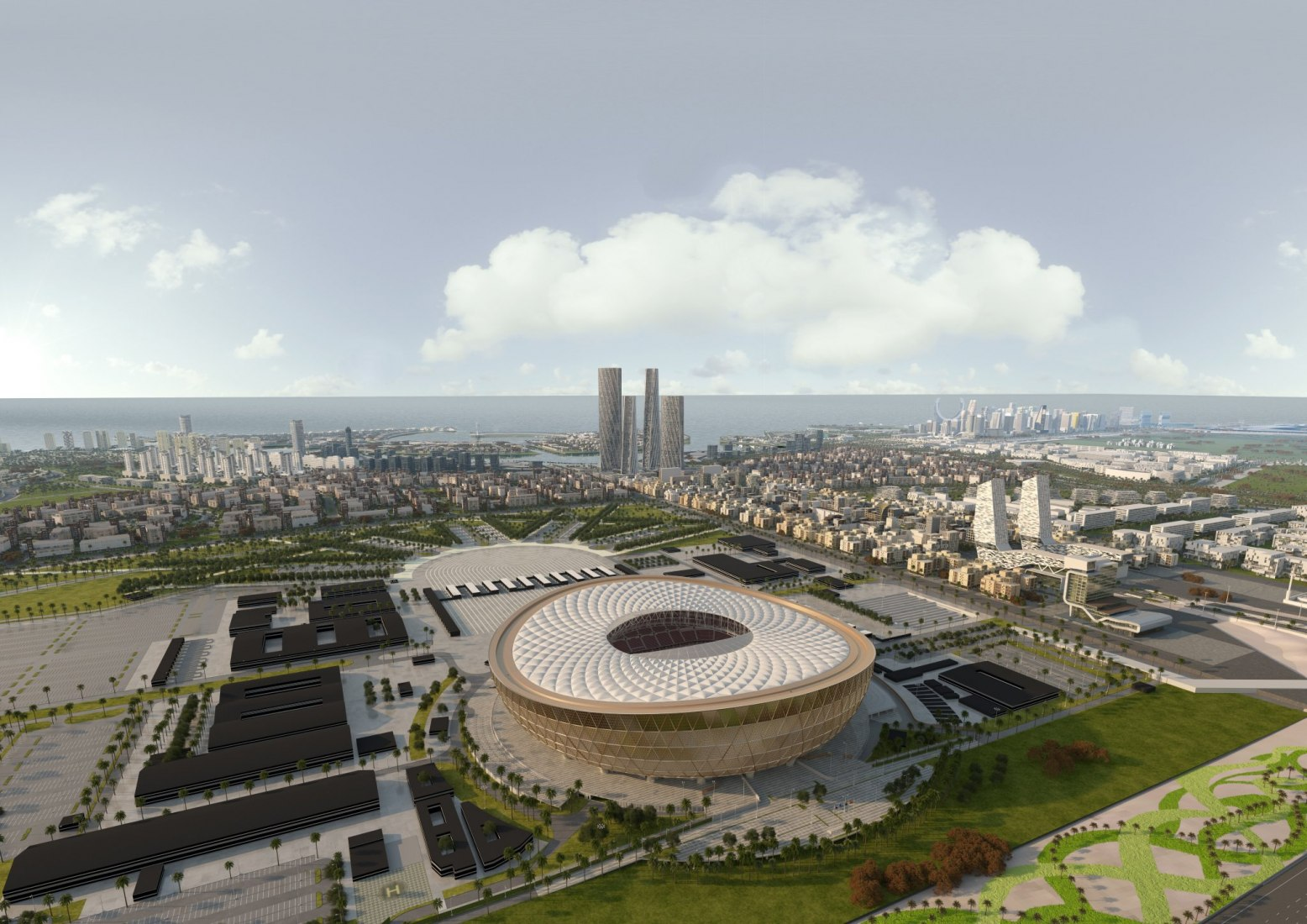 Lusail FIFA World Cup Stadium by Norman Foster. Image courtesy of Supreme Committee for Delivery & Legacy.