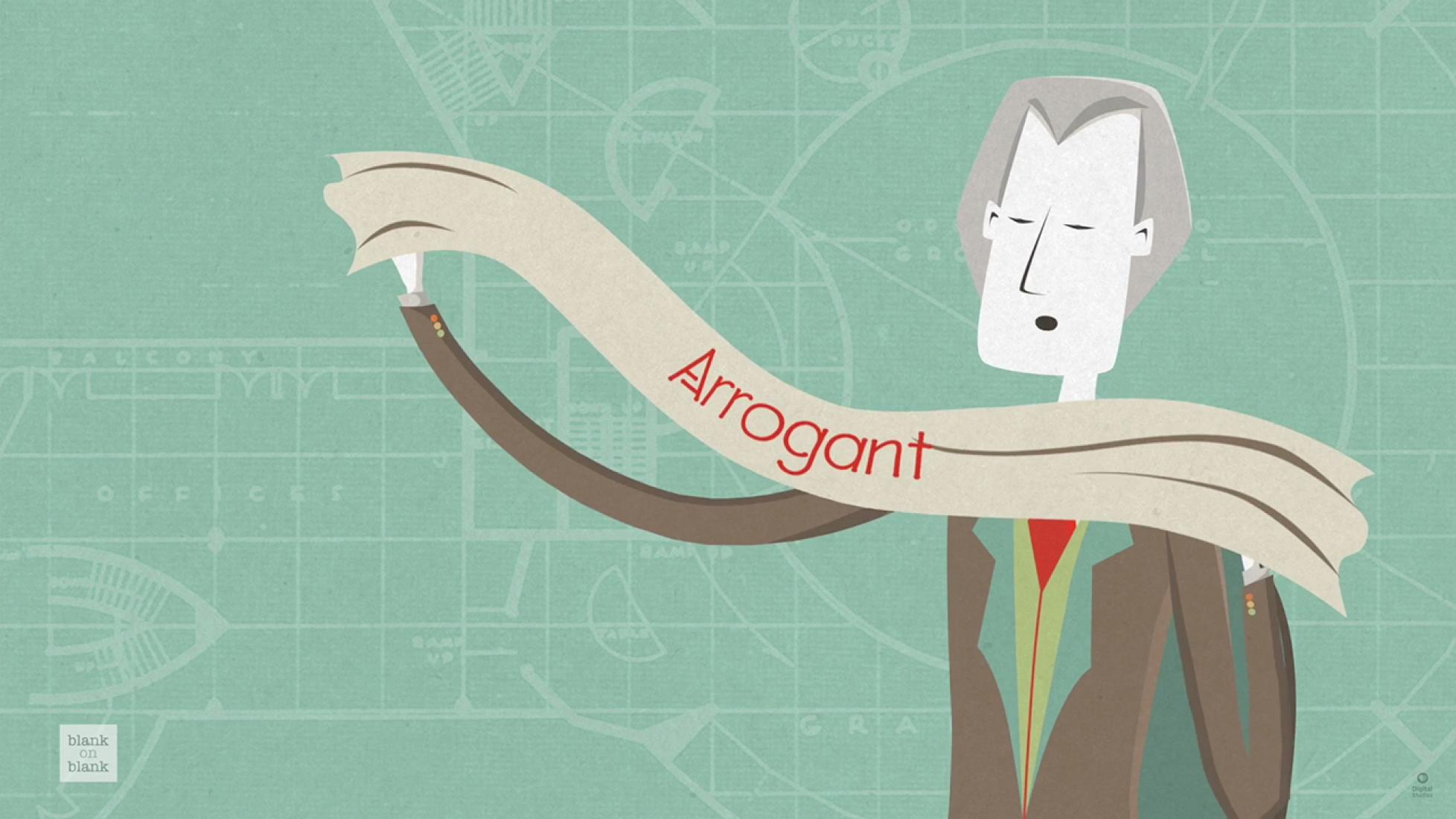 Frank Lloyd Wright habla sobre arrogancia por Blank on Blank