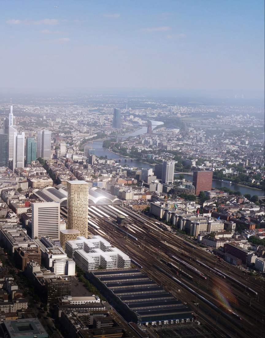Frankfurt Grand Central by mecanoo. Rendering courtesy of mecanoo.