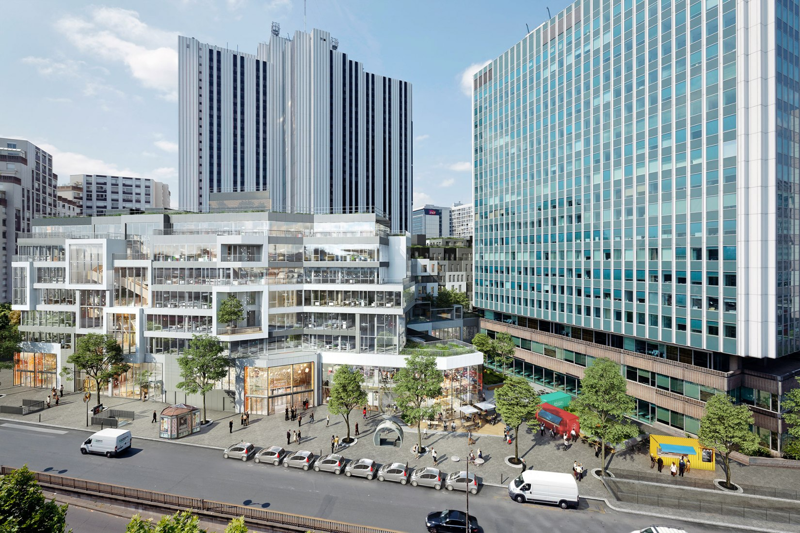 Visualización. Gaîté Montparnasse por MVRDV. Imágen © MVRDV y L'Autre Image