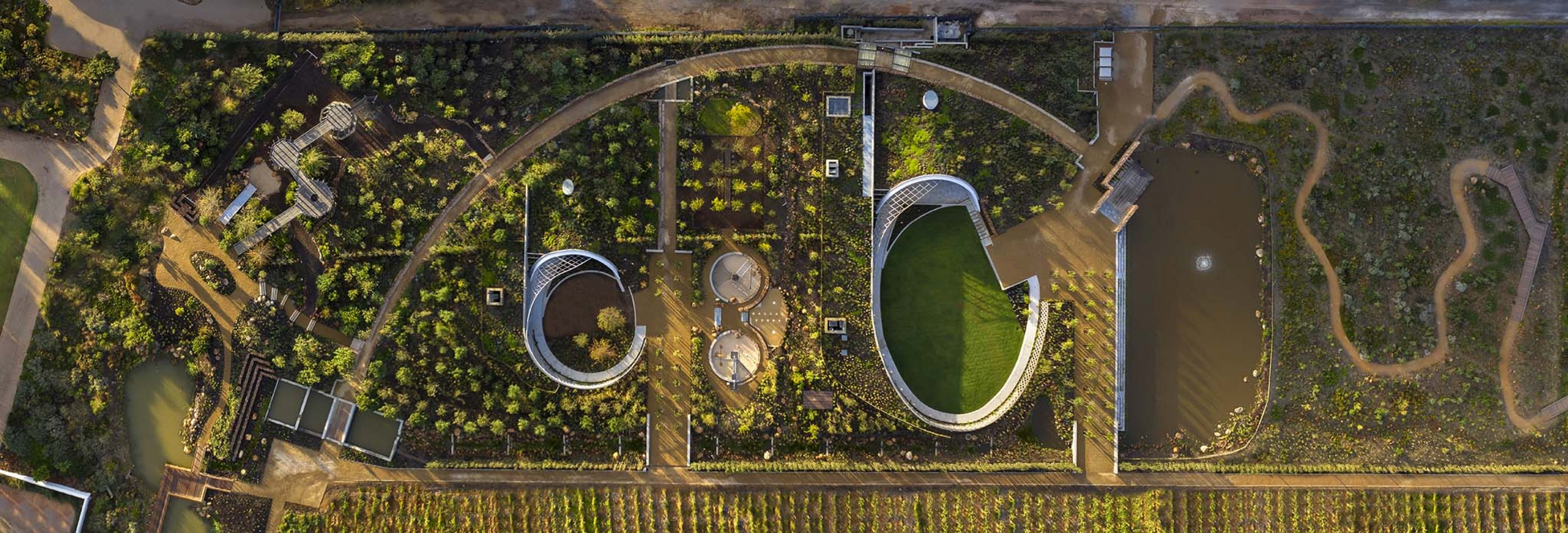 Garden Cafe by Steyn Studio, Meyer & Associates and Square One Landscape Architects. Photograph by Dook