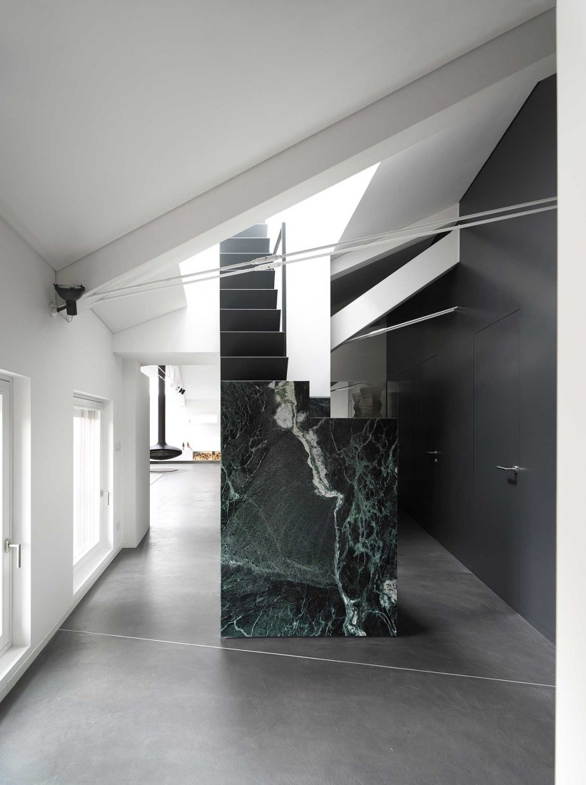 Architettura And Design the strength of verde alpi marble. dln penthouse by geza