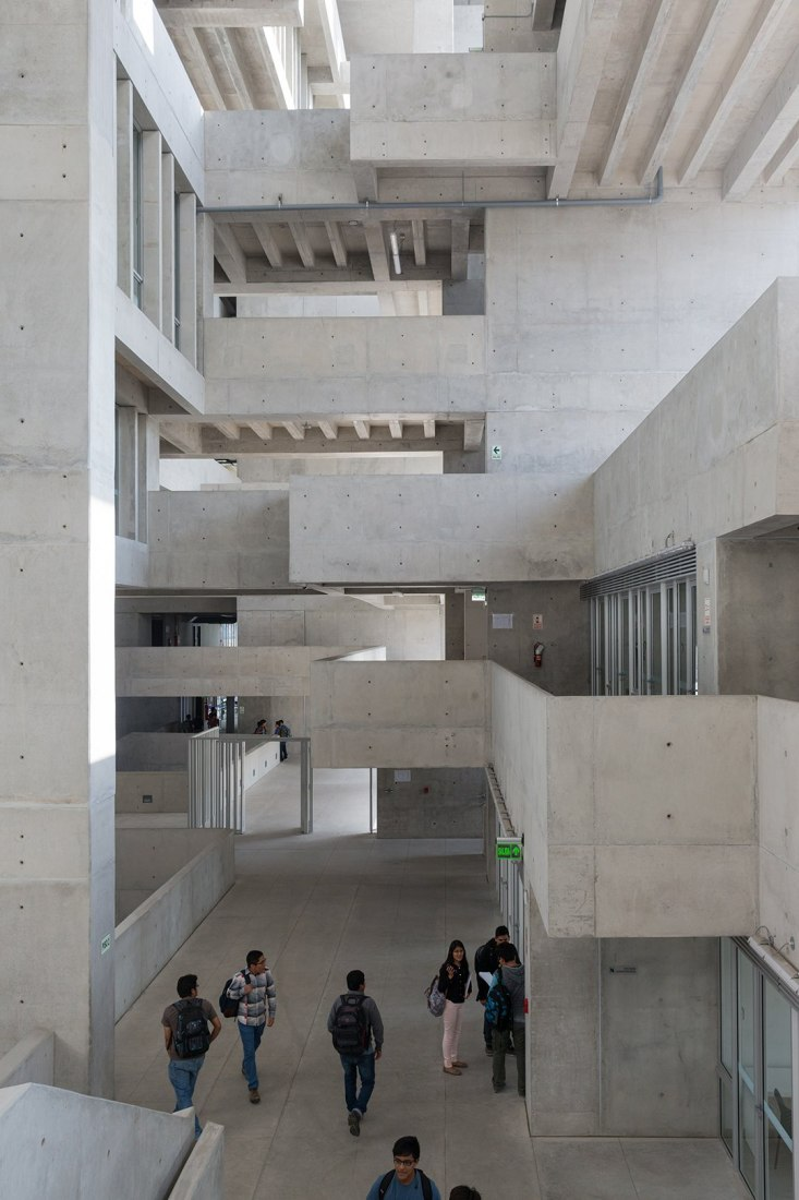 Inside view of the UTEC Headquarters by Grafton Architects and Shell Arquitectos. Photograph © Iwan Baan. Image courtesy of the MCHAP.