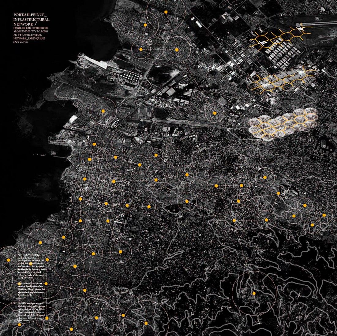Potential hub distribution throughout metropolitan Port-au-Prince