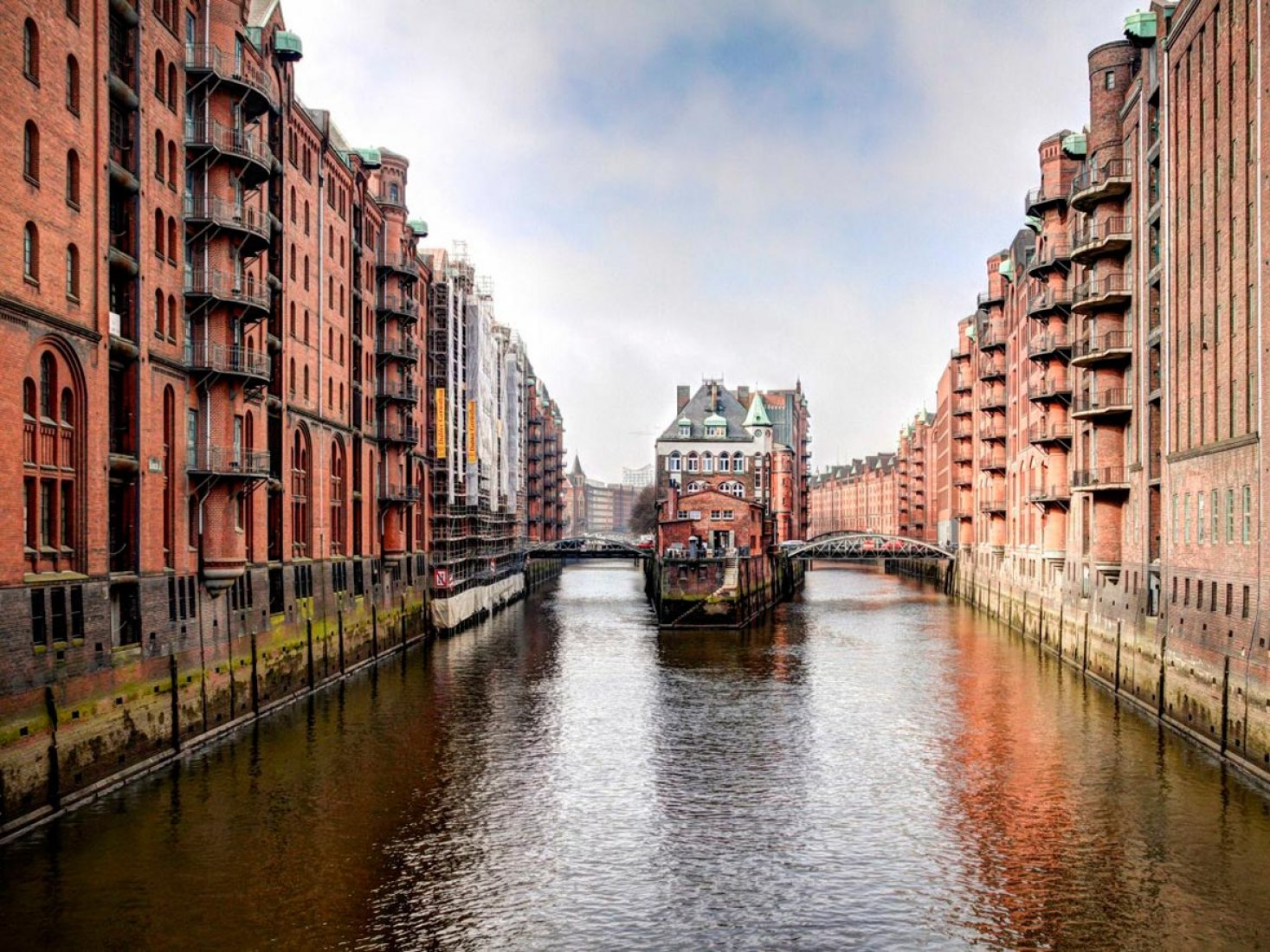 Hamburg's warehouse district has been given world heritage status. Image courtesy Hamburg Marketing GmbH/Christian Spahrbier.