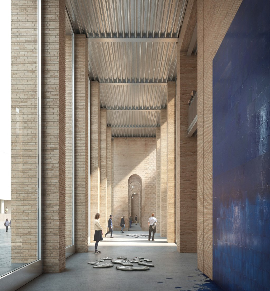 Competition for the expansion of the future MACBA by HArquitectes and Christ & Gantenbein. Rendering by Filippo Bolognese Images