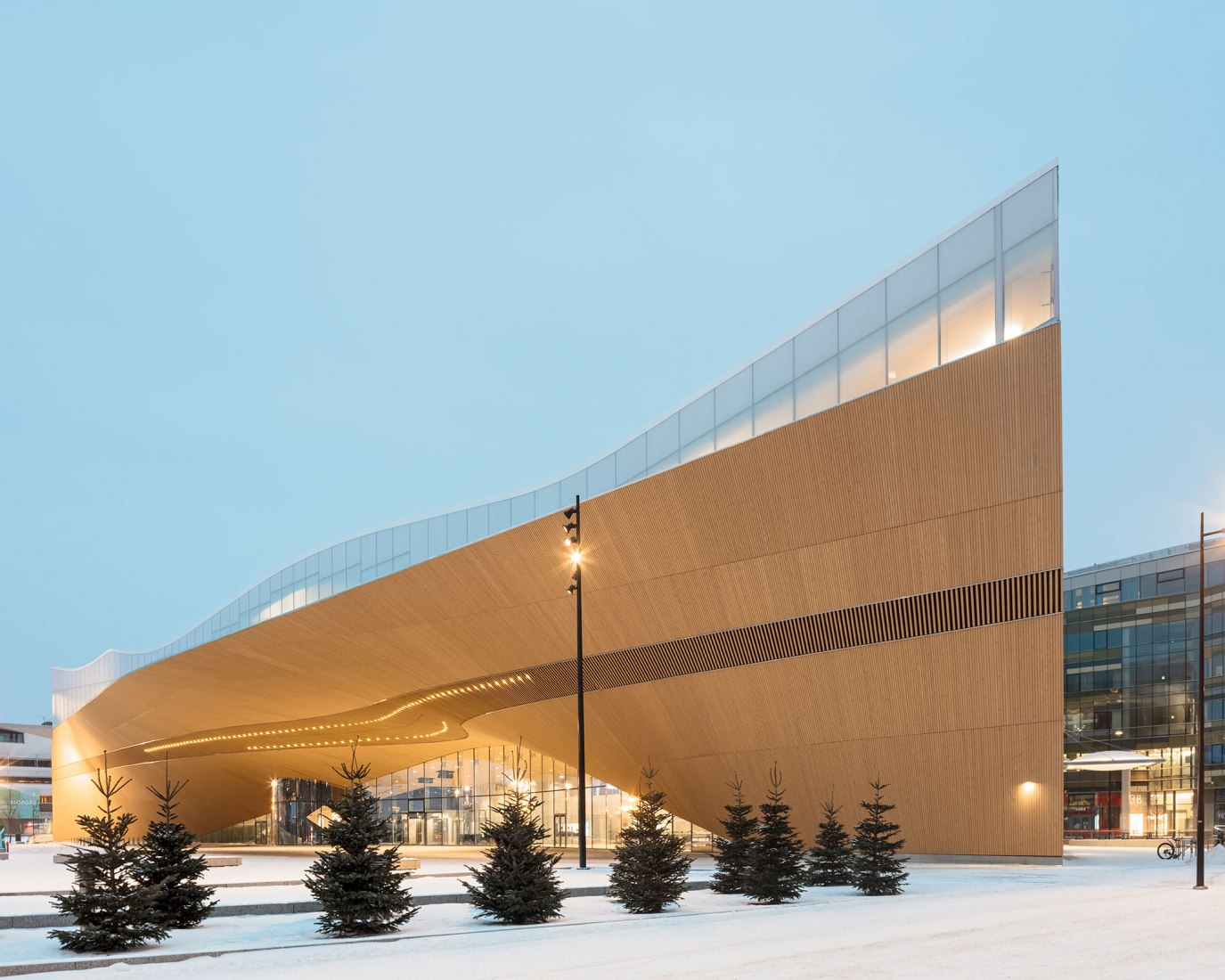 Helsinki Central Library OODI by ALA Architects. Photograph by Tuomas Uusheimo