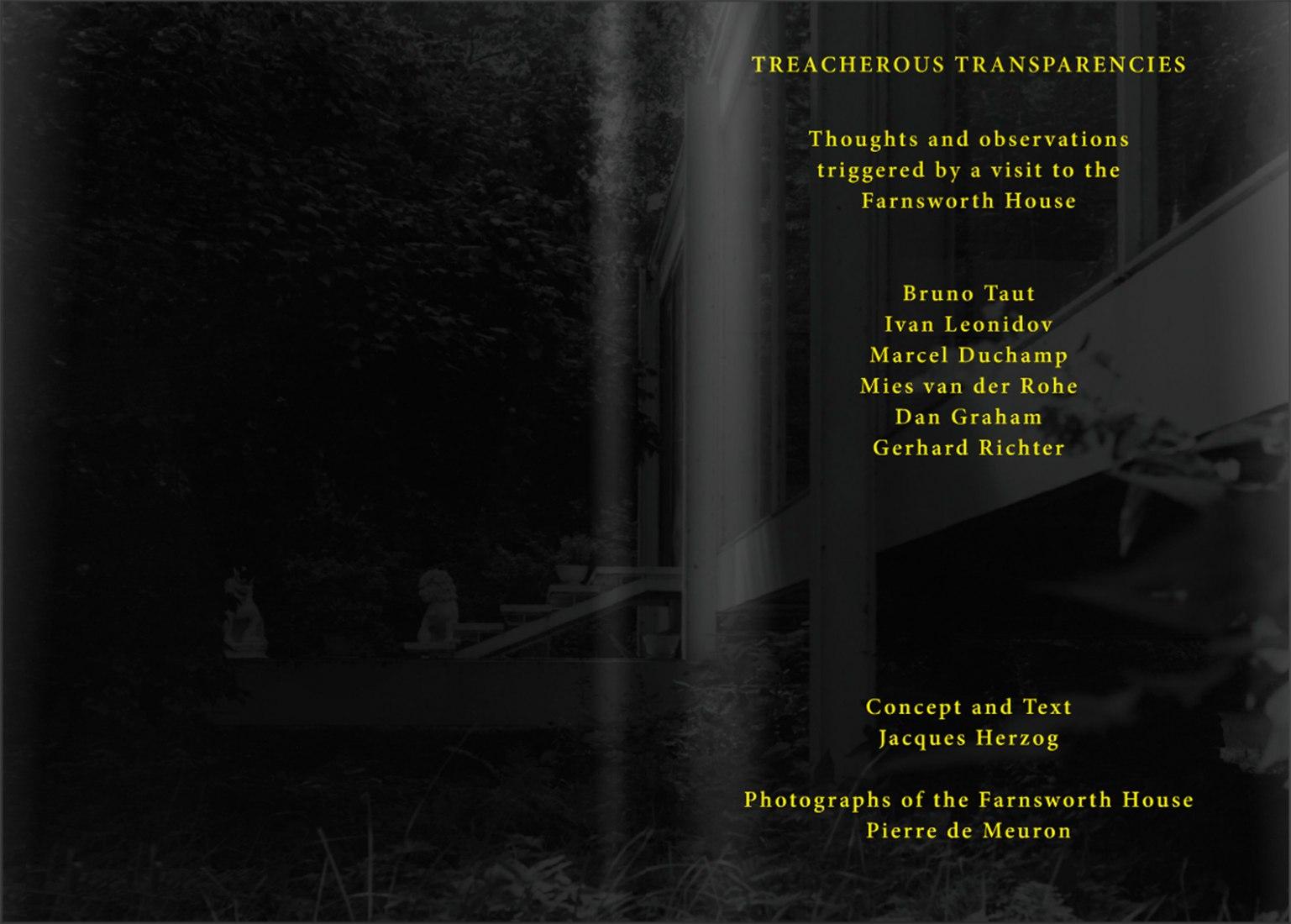 Inner pages of Treacherous Transparencies by Jacques Herzog y Pierre de Meuron.