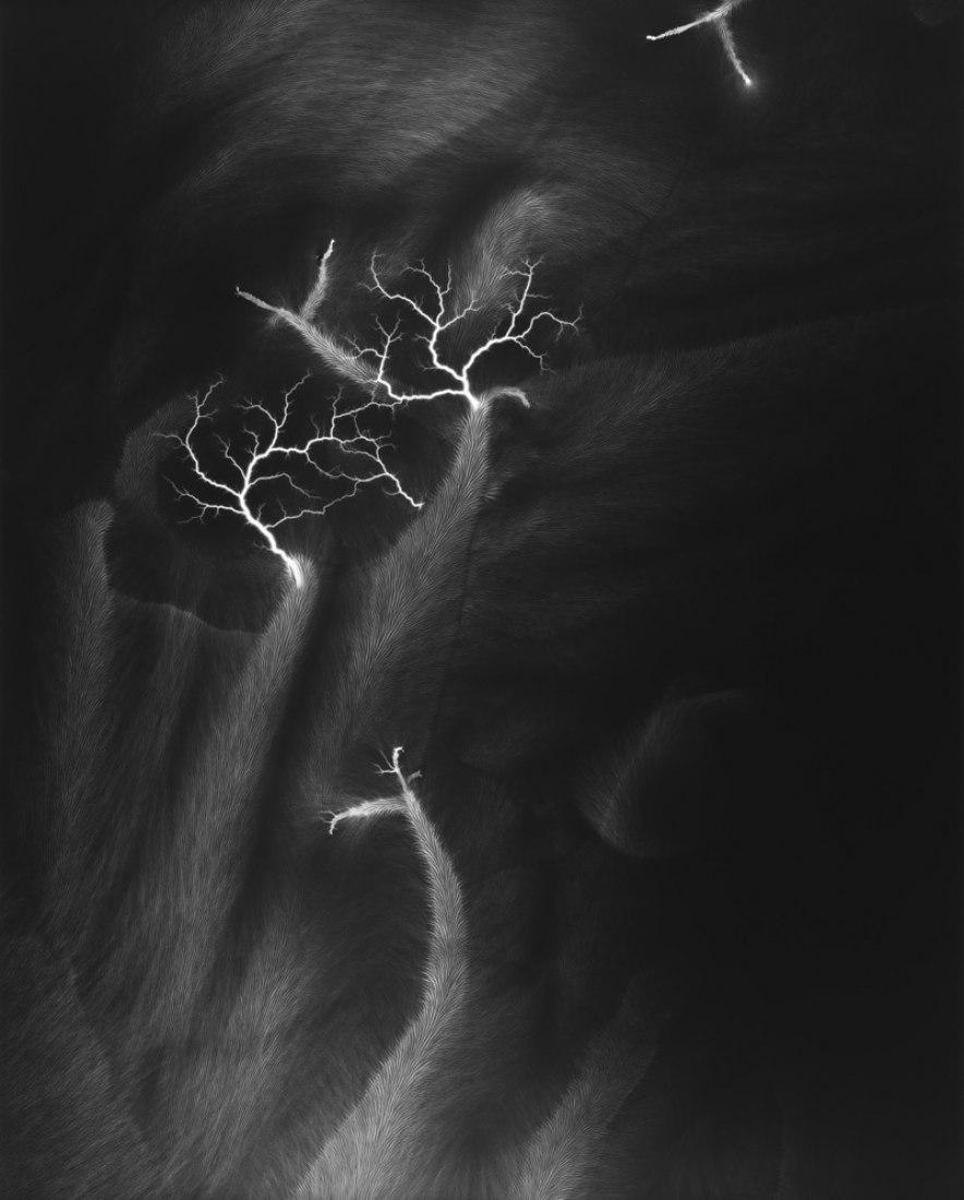 Lightning Fields 119, 2009. Size.- 149 x 119.4 cm. Gelatin silver print. Photography © Hiroshi Sugimoto. Image courtesy of Fundación Mapfre.