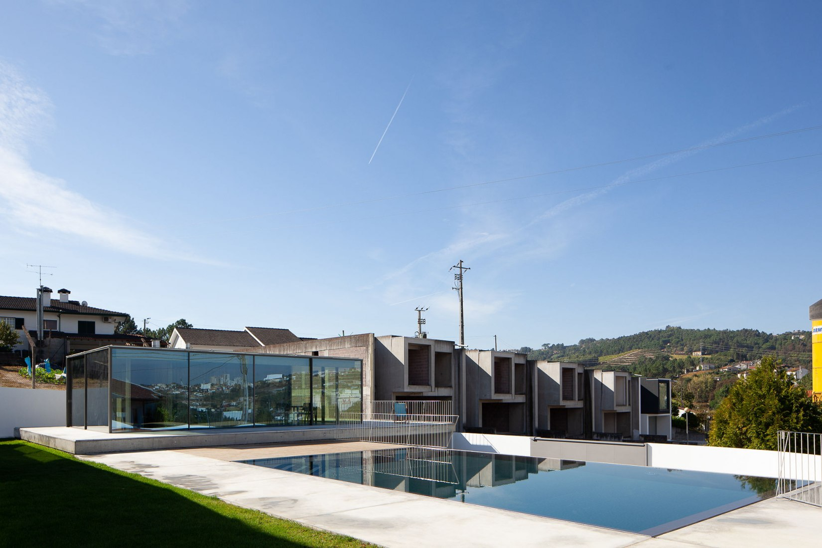 Pool Pavilion by Antonio Cruz Lopes Architect. Photograph by Jose Campos.