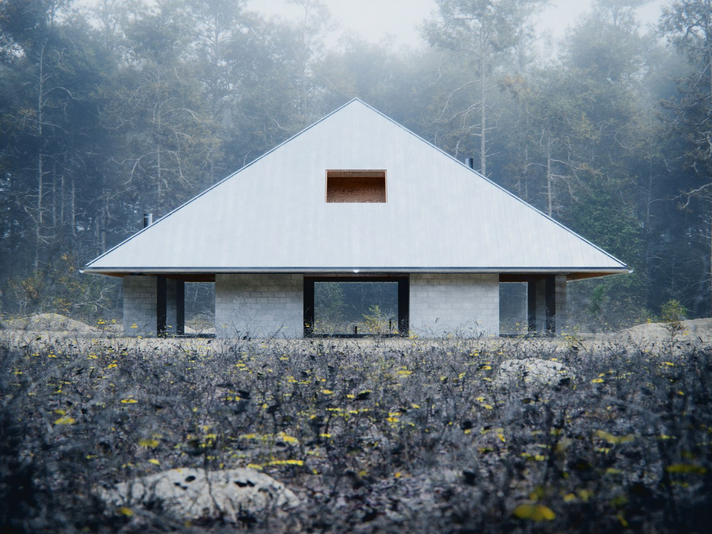 Rendering. House of the Woodland by WOJR. Image Courtesy of D-Render