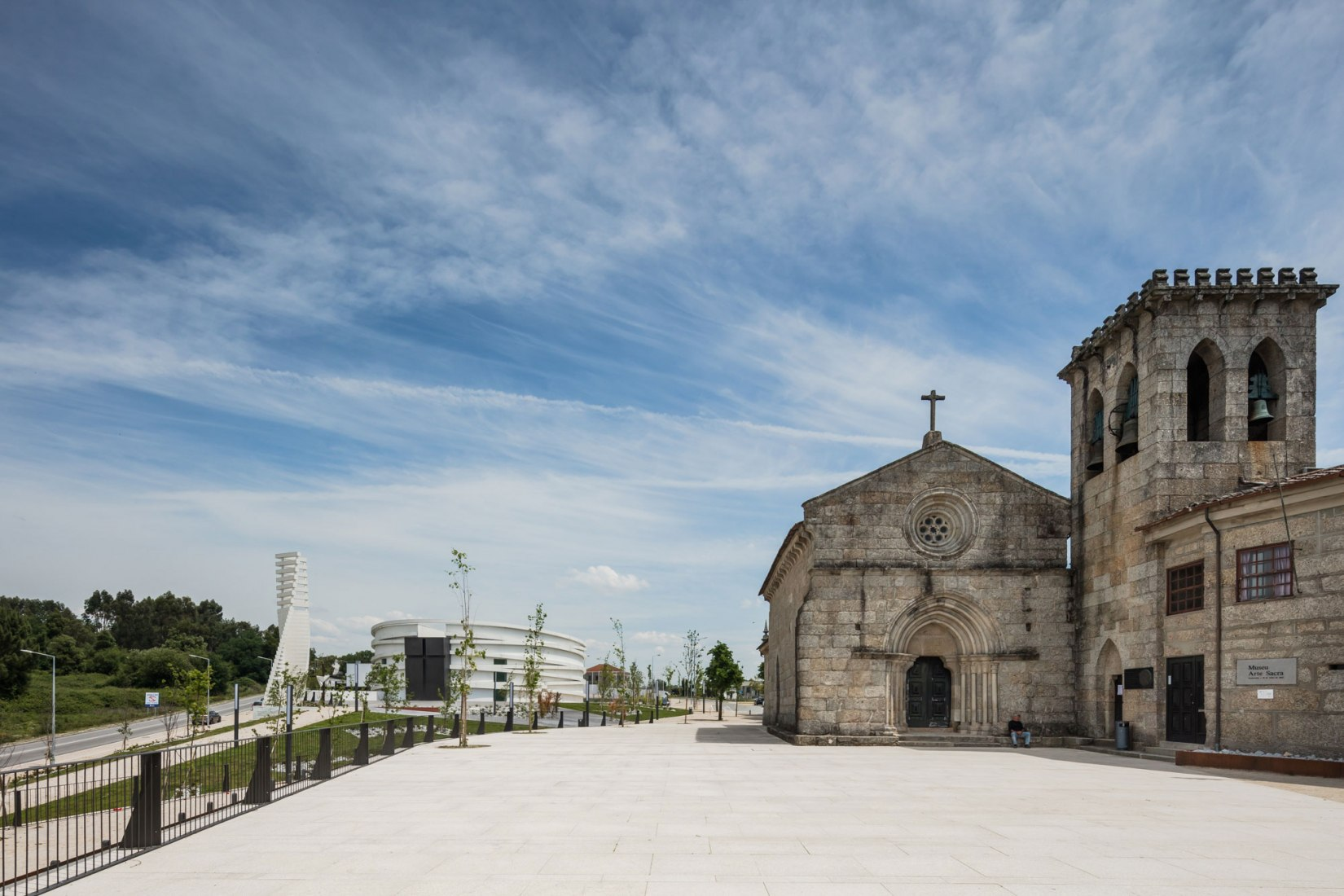 Exterior view. Church of S. Tiago de Antas by Hugo Correia. Photograph by Joao Morgado